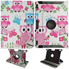 BUTTERFLY OWL WHIT FOLIO CASE KINDLE FIRE HDX 8.9 STAND 360 ROTATE TABLET COVER