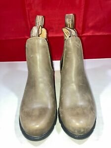 Blundstone Women Leather Heeled Antique Brown Boots Shoe Size US7