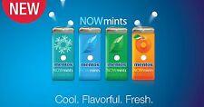 3 boxes Mentos Now Mints, i each of Spearmint Wintergreens Orange 1.09 oz each