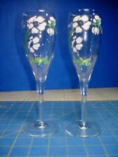 2 PERRIER JOUET CRYSTAL CHAMPAGNE FLUTES EXCELLENT PERFECT CONDITION