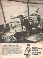 1966 Original Advertising' Pia Pakistan International Airlines Torre Control
