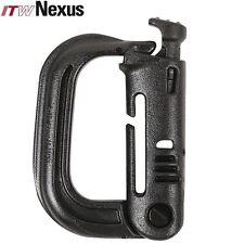 X4 ITW GhillieTEX Grimloc Locking D-ring Carabiner Grimlock Black UK Seller