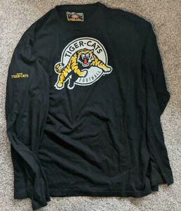 HAMILTON TIGER-CATS CANADIAN FOOTBALL LEAGUE CFL LONG SLEEVE TEE XXL EXCELLENT