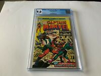 CAPTAIN MARVEL 38 CGC 9.0 WHITE PAGES TRIAL OF THE WATCHER MARVEL COMICS 1975
