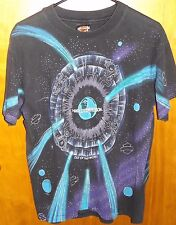 Harley-Davidson Motorcycles Out of this World Men's Space Shirt M HD VTG SHIELD