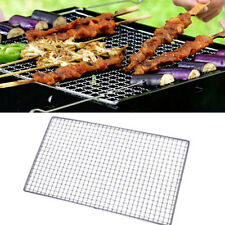 BBQ Barbecue Grill Grilling Basket Stainless Steel Mesh Wire Net Outdoor Cooking
