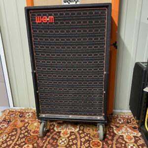Vintage 1970s 1973 WEM Watkins 2x12 Speaker Tall Upright Cabinet EMPTY UNLOADED