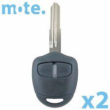 2 x Mitsubishi Challenger Pajero Triton Evo Remote Key Blank Shell/Case/Fob