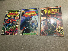 Lot of 3 - Tomb of Dracula 59,70, Werewolf by Night 16,Marvel Comics