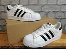 ADIDAS UK 5 EU 38 WHITE BLACK SNAKE SUPERSTAR TRAINERS LADIES CHILDRENS