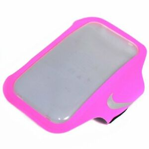 """NIKE Ventilated Arm Band For 5.5"""" Phone Size , Pink x Grey"""