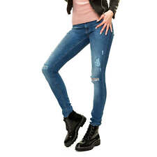 Only Damen Jeans Skinny Fit Stretch Distressed Denim Used Look Casual SALE %
