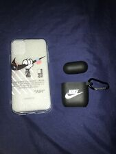 Nike Off White Iphone 11 Case Cover Skin Clear New! With Airpods Case Combo!