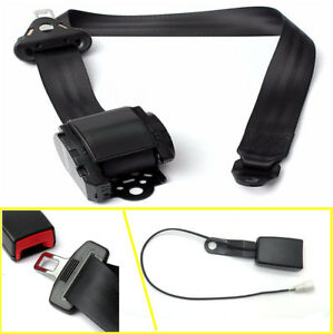Iron Plate Style Extra Long Adjustable Car Lap Safety Belt With Wearing Reminder