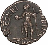 CONSTANTIUS II Constantine the Great son with globe Ancient Roman Coin i42579