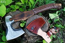 CUSTOM HAND FORGED Carbon Steel Viking Axe Throwing Axe Ash Wood Handle