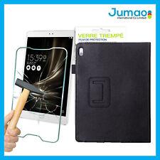 """Etui aspect cuir noir, verre trempé vitre pour Samsung Galaxy Tab S2 SM-T715 8"""""""