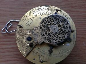 Antique Fusee Fob Pocket Watch Movement William Shirt City Road London Restore