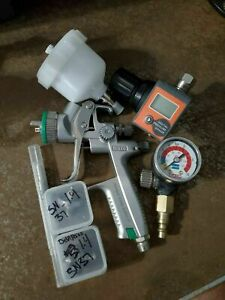 SATA minijet 4400 B HVLP Spray Gun 1.0 Gravity Air Professional DeVilbiss Lot
