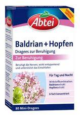 Abtei Baldrian Hopfen 80 mini Dragees Beruhigung für Tag und Nacht, PZN 12453646
