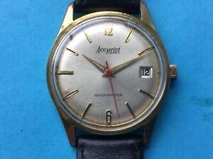 Vintage Accurist Shockmaster manual watch 21 jewels ETA 2409 Swiss made 1960's