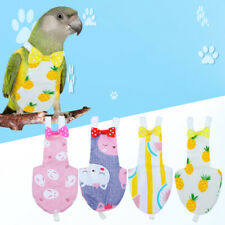 2Pcs Pet Cloth Comfortable Cute Pet Pilot Clothing Parrot Diaper for Cockatiel