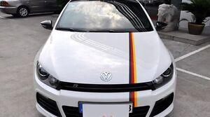 German Flag Bonnet Racing Car Stripe Viper Tuning Stickers For Audi VW BMW
