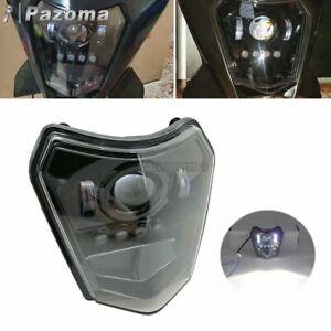 Dirt Bike LED Headlight Kit For EXC-F EXC XC XCF XC-W Six Days 200 250 Black