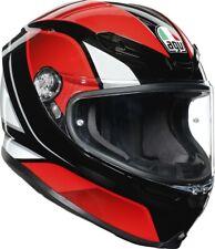 AGV K6 HYPHEN WHITE BLACK RED ROSSO CASCO MOTO INTEGRALE FIBRA TG ML
