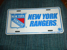 Vintage New York Rangers Aluminum License Plate ~ NEW in Cellophane Wrap
