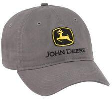 NEW John Deere Gray Twill Cap Low Profile Unstructured LP69040