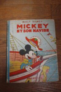 ALBUM ILLUSTRE ANCIEN: WALT DISNEY: MICKEY ET SON NAVIRE / HACHETTE 1949