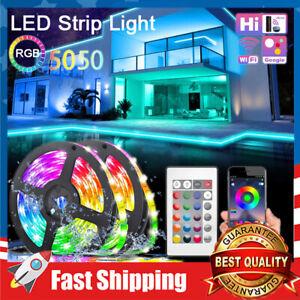 32.8FT LED Strip Lights RGB 5050 Color Changing Music Sync Room Tape Light