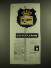 1971 Best Western Motels Ad - Best Vacation Route
