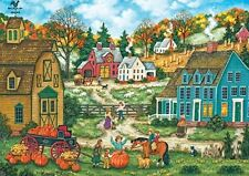 Jigsaw Puzzle Landscape Seasonal Grandpa's Giant Pumpkin Patch 2000 pieces NEW