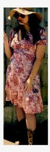 Top shop Laura Lee - Quality Super Vintage Dress Large