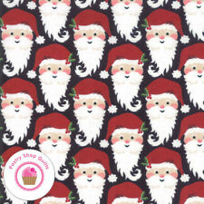 Moda KRINGLE AND CLAUS 30592 11 Black Santa BASIC GREY Quilt Fabric CHRISTMAS