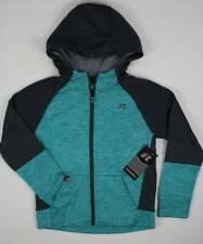 Boys Tech Fleece Zip Hoodie Xl 14 - 16 Green Gray Wicking Pockets Hooded Jacket