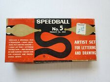 Vintage Speedball No. 5 Artist Set Calligraphy Writing Pen Lettering Drawing
