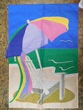 Adirondack Chair by Ocean, Beach Umbrella, & Towel, Summer applique House flag