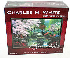 "PRESSMAN ~ CHARLES H WHITE ""Bridge of Tranquility"" 750 pcs Puzzle NEW 27"" x 17"""