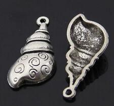 10pc Retro Tibetan Silver(Conch pendant)Jewelry Accessories wholesale PJ2618