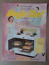 MAGIC CHEF GAS RANGES 1952 VINTAGE MAGAZINE AD  INV#221