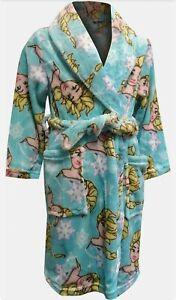 Girls Toddlers Frozen II Sisters Elsa Snowflake Robe Bathrobe Pajamas C11