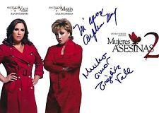 Angelica Vale & Maria Firmado 8x10 Foto - Exacto a Prueba de Mujeres Asesinas