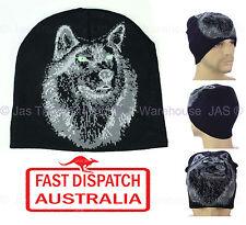 Winter Unisex Men Ear Head Warmer Skull Knit Beanie Hat Knit Animal WOLF