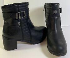 Harley Davidson Women Biker Boots Size 8 Euro 39 Black Style D87124 EUC Comfort