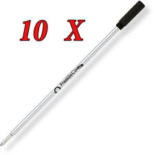 Franklin Covey (by Cross) Set of 10 Ballpoint refills Size M Black 8004-211