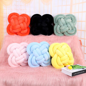 Home Knit Style Soft Knot Square Cushions Bed Stuffed Pillow Cushion Plush Throw