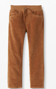 130 size 8 boys Hanna Andersson Slim Stretch Cords  Pants NWT Tan Pull On